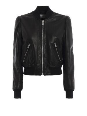 DONDUP: giacche in pelle - Bomber in morbida nappa