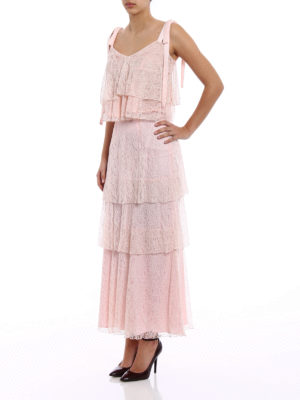 Dondup: Long skirts online - Lace flounced skirt