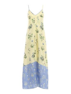 Dondup: maxi dresses - Narret silk slipdress