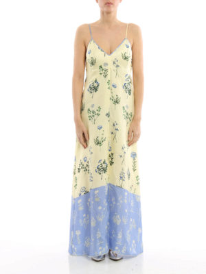 Dondup: maxi dresses online - Narret silk slipdress