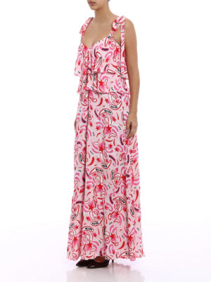 Dondup: maxi dresses online - Viscose flounced dress