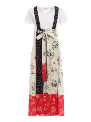 Dondup: maxi dresses - Rigel floral print silk dress
