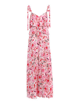 Dondup: maxi dresses - Viscose flounced dress