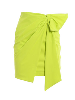 DONDUP: mini skirts - Bow jersey mini skirt