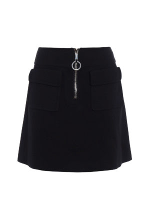 Dondup: mini skirts - Daughtry zipped A-line skirt