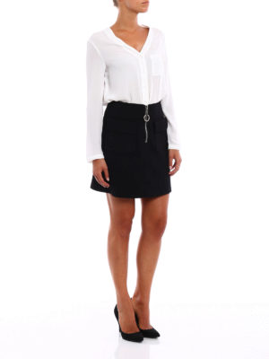 Dondup: mini skirts online - Daughtry zipped A-line skirt