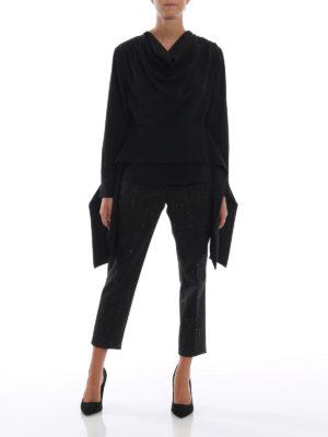 DONDUP: bluse online - Blusa in cady con drappeggio