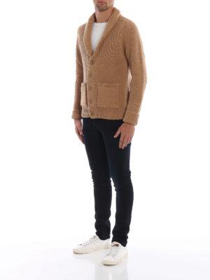DONDUP: cardigan online - Caldo cardigan in lana merino intrecciata