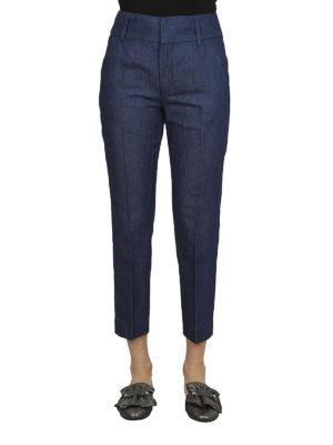 DONDUP: pantaloni casual online - Pantaloni Chic in cotone misto lino