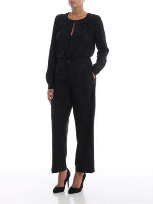 DONDUP: pantaloni casual online - Pantaloni neri Eloisa larghi in lana