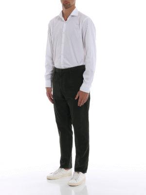 DONDUP: pantaloni casual online - Pantaloni Frankie in velluto verdone