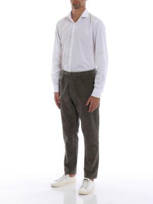DONDUP: pantaloni casual online - Pantaloni Frankie in velluto color nocciola