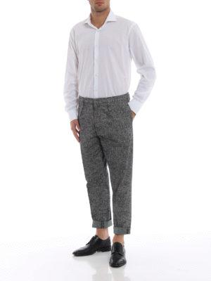 DONDUP: pantaloni casual online - Pantaloni Frankie in tweed stampato