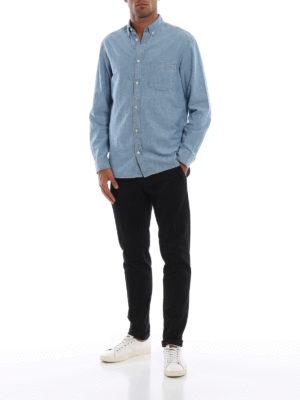 DONDUP: pantaloni casual online - Pantaloni neri Gaubert in misto cotone