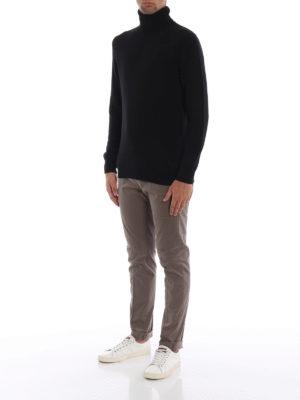 DONDUP: pantaloni casual online - Pantaloni chino Gaubert in cotone beige scuro