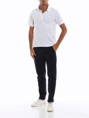 DONDUP: pantaloni casual online - Pantaloni Gaubert in misto cotone blu scuro