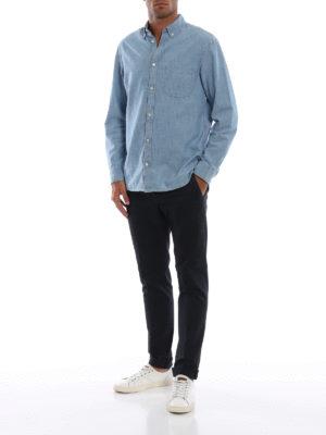 DONDUP: pantaloni casual online - Pantaloni blu scuri Gaubert in misto cotone