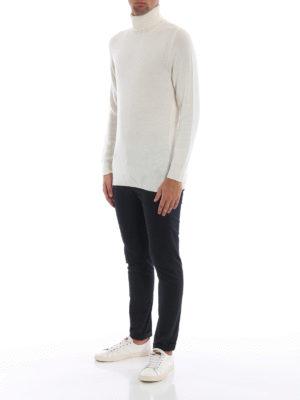 DONDUP: pantaloni casual online - Pantaloni Gaubert cotone blu scuro con motivo