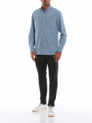 DONDUP: pantaloni casual online - Pantaloni Gaubert in misto cotone verde scuro