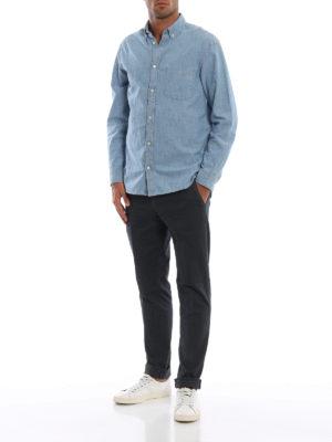 DONDUP: pantaloni casual online - Pantaloni grigi scuri Gaubert in misto cotone