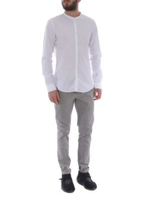DONDUP: pantaloni casual online - Pantaloni Gaubert grigi in cotone