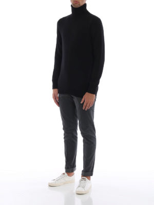 DONDUP: pantaloni casual online - Pantaloni Gaubert cotone grigio micro motivo