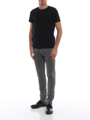 DONDUP: pantaloni casual online - Pantaloni grigi Gaubert in cotone stampato