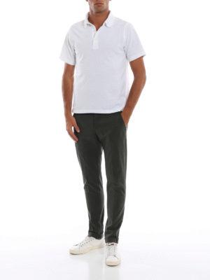 DONDUP: pantaloni casual online - Chinos Gaubert in misto cotone verde muschio