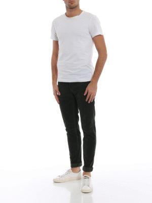 DONDUP: pantaloni casual online - Pantaloni George in velluto verde