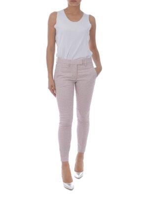 DONDUP: pantaloni casual online - Pantaloni in jacquard pied-de-poule
