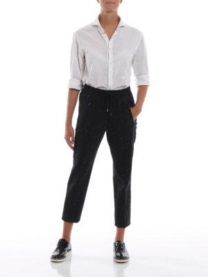 DONDUP: pantaloni casual online - Pantaloni Lottie in misto lana a righe