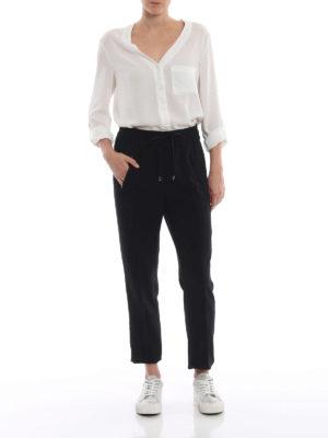 DONDUP: pantaloni casual online - Pantaloni neri Lottie in cady