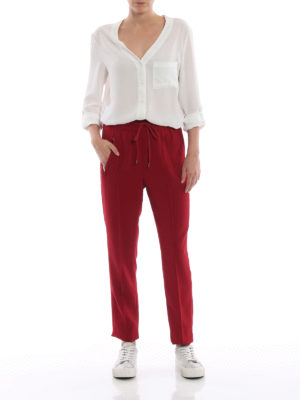 DONDUP: pantaloni casual online - Pantaloni rossi Lottie in cady