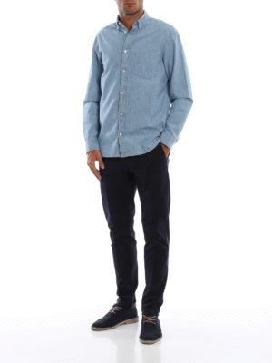 DONDUP: pantaloni casual online - Pantaloni Gaubert blu scuri in misto cotone