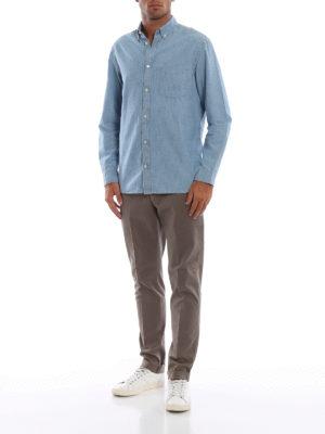 DONDUP: pantaloni casual online - Pantaloni Gaubert in misto cotone color kaki