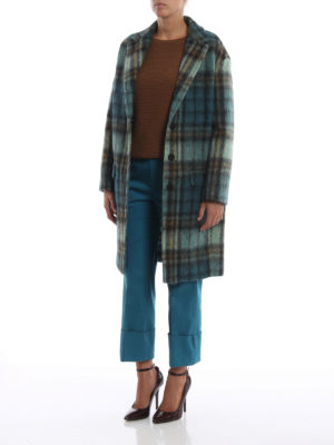 DONDUP: pantaloni casual online - Pantaloni dritti in rasatello turchese