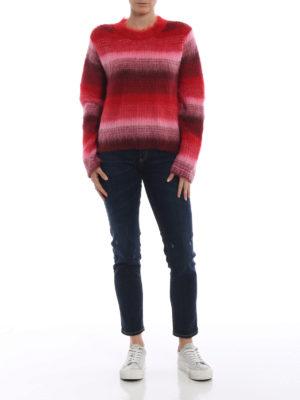DONDUP: maglia collo rotondo online - Girocollo in misto mohair a righe sfumate