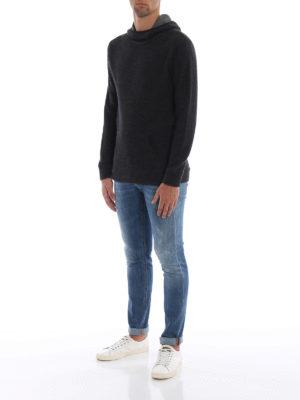 DONDUP: maglia collo rotondo online - Pullover modello felpa in lana merino grigia