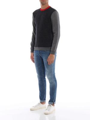 DONDUP: maglia collo rotondo online - Girocollo modello felpa in lana merino