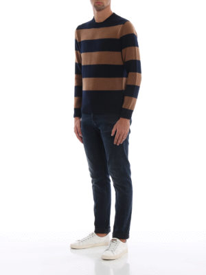 DONDUP: maglia collo rotondo online - Girocollo senza tempo o in lana a righe