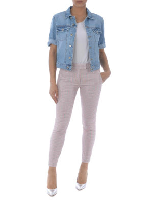 DONDUP: giacche denim online - Giacca in denim con maniche corte