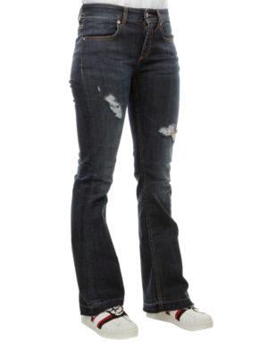 DONDUP: jeans a zampa online - Jeans svasati destroyed