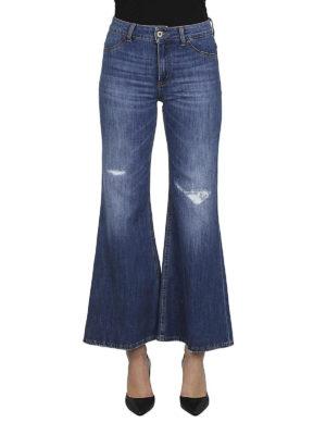DONDUP: jeans a zampa online - Jeans a zampa con abrasioni