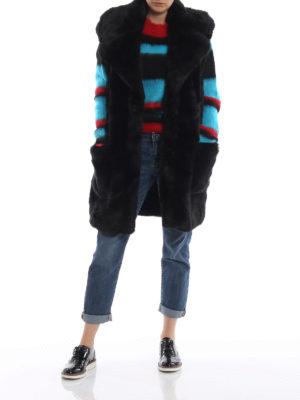 DONDUP: Pellicce e montoni online - Gilet nero in eco-pelliccia senza maniche