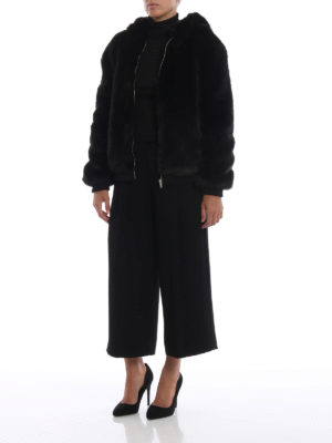 DONDUP: Pellicce e montoni online - Giubbino in eco pelliccia con cappuccio