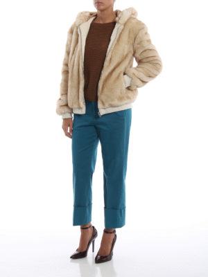 DONDUP: Pellicce e montoni online - Giubbino effetto pelliccia con cappuccio
