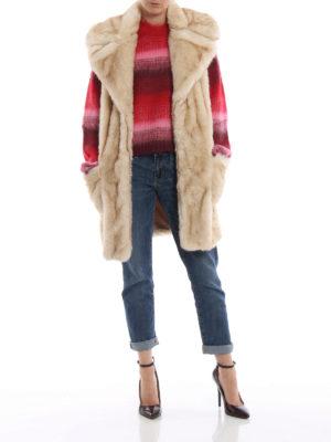 DONDUP: Pellicce e montoni online - Eco-pelliccia senza maniche beige chiaro