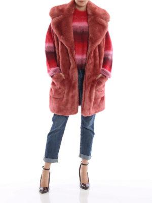 DONDUP: Pellicce e montoni online - Eco-pelliccia senza maniche color salmone