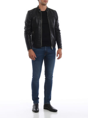DONDUP: giacche in pelle online - Giacca biker nera in pelle