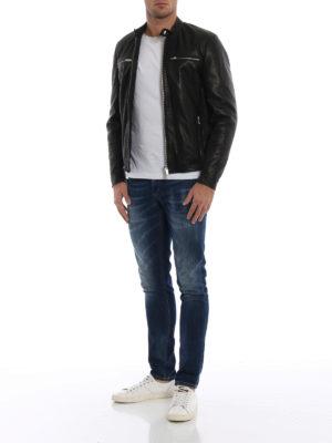 DONDUP: giacche in pelle online - Giacca biker in pelle nera